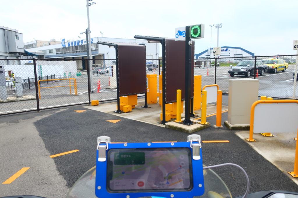 伊丹空港バイクの駐輪場改札